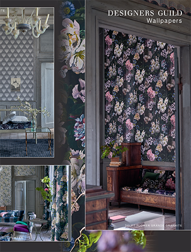 DESIGNERS GUILD TULIPA STELLATA WALLPAPER AUTUMN/WINTER 2017